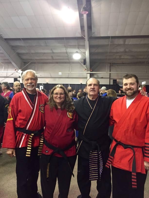 Great Grandmaster Villari, Master John Fritz, Master Joan Richert, and Master Alan White